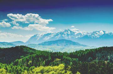 carpathian mountains landscape in romania LKVMWWM