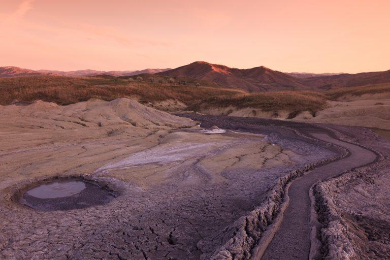 mud volcanoes in buzau romania PMWWZAL