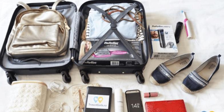 Bagajul de mână în citybreak: peria de îndreptat părul și cosmeticele