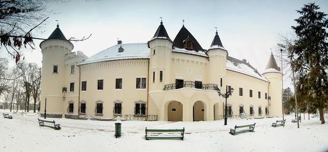 castelul karolyi carei satu mare exterior iarna