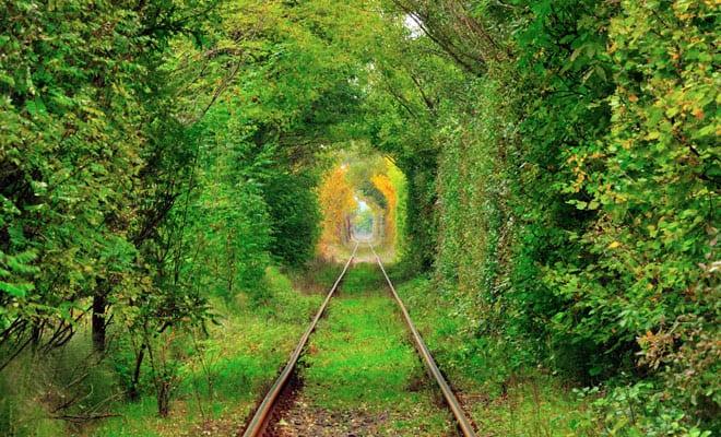 Tunelul iubirii de la Obreja