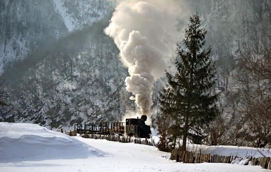 Mocanita iarna
