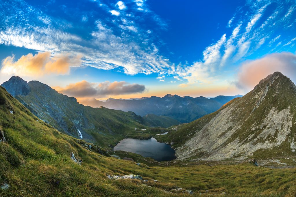 capra lake fagaras mountains romania PNXDZR2