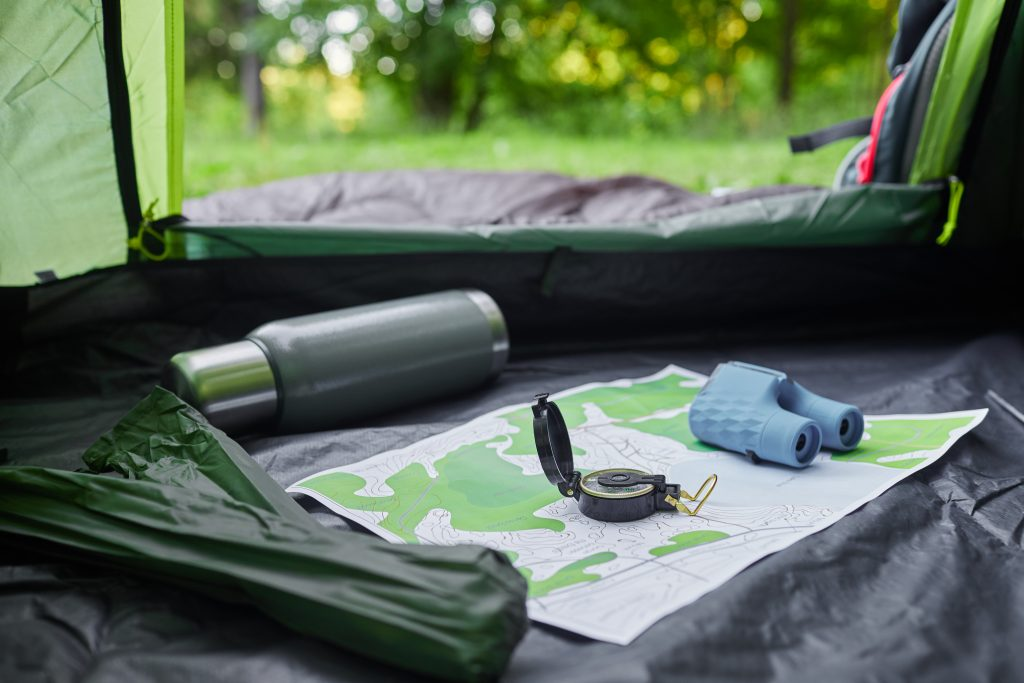 empty camping tent HVQFLVV