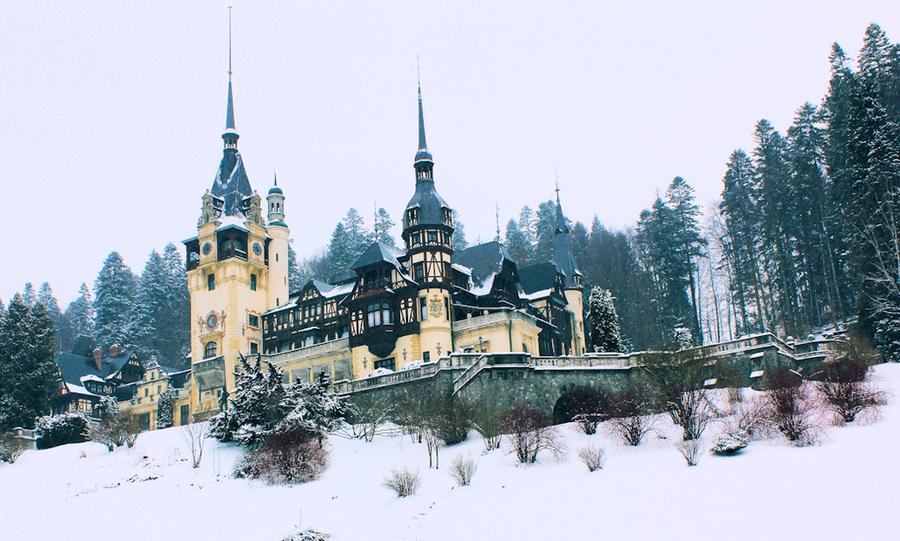 peles castle in the winter by dana gh d3csljb