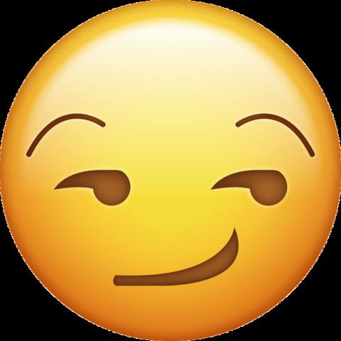 smirking face