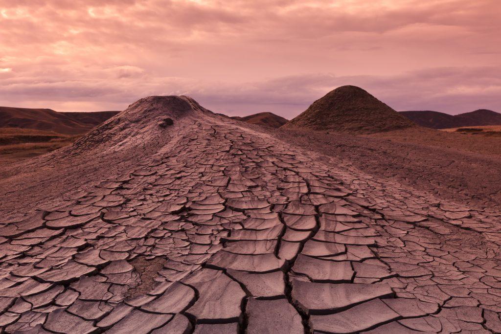 mud volcanoes in buzau romania PJ5FFS5