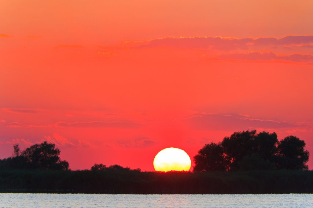 sunset in the danube delta P27LXVP 1
