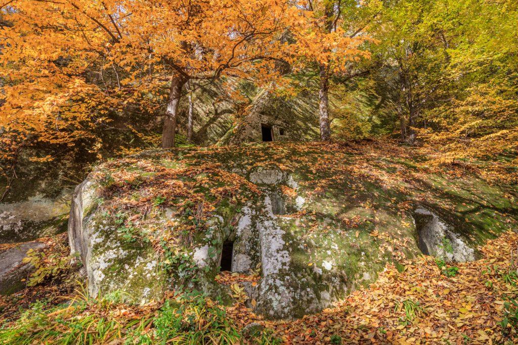 cave hermitage from alunis county buzau romania PXXA5H6