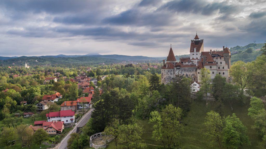 medieval bran castle brasov transylvania romania T3NR6YG