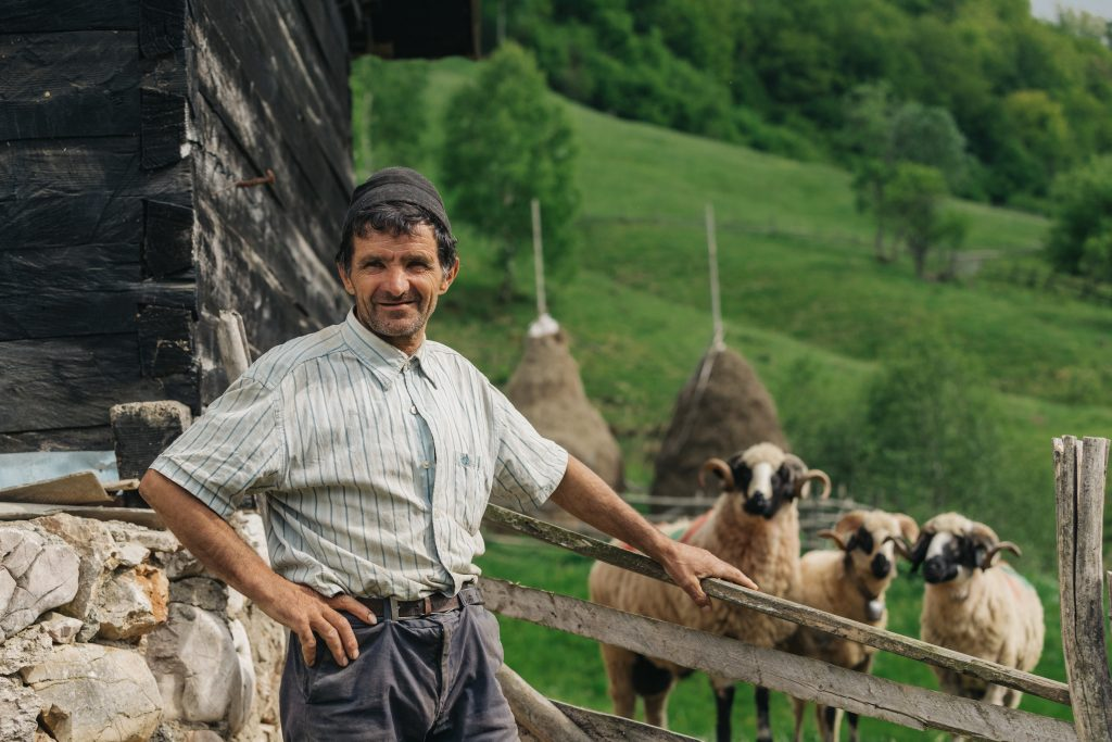 shepherd at his countryside house from a remote vi WEGCAZS 1